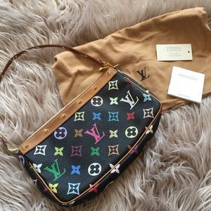 Louis Vuitton Bags - Louis Vuitton Black Multicolor Monogram Pochette